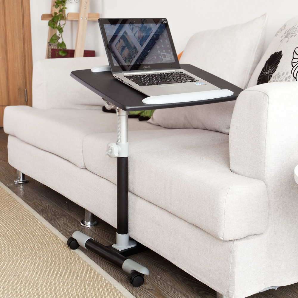 SoBuy Height Adjustable Home Nursing Table, Bed Sofa Side Table, Laptop desk office Furniture goplus modern simple laptop holder living room home end stand desk table notebook beside sofa bed home office furniture hw56969