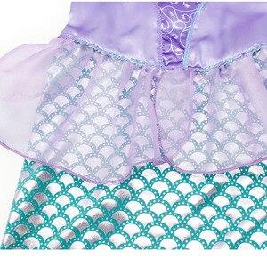 Image 5 - AmzBarley リトルマーメイドの衣装プリンセスアリエルドレスアップ女の子誕生日コスプレパーティー衣装子供ハロウィンの服クラウン