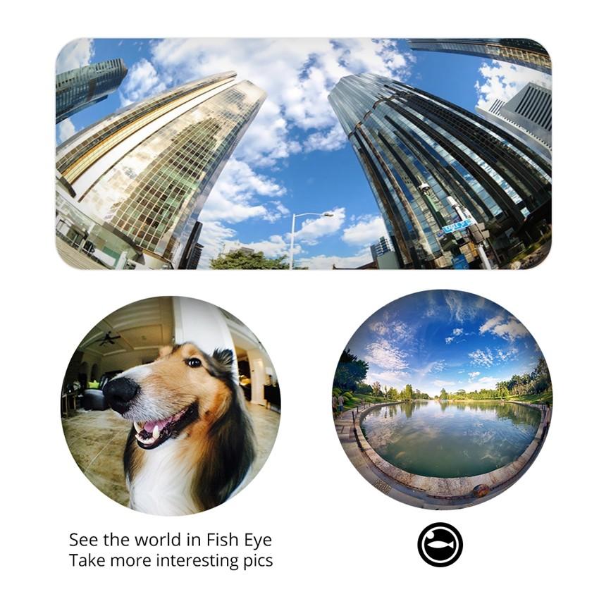 VICTSING Clip-on 3 in 1 Camera Phone Lens Kit Fisheye Lens + 12X Macro + 24X Super Macro Lens for iPhone 6s 6 Plus etc Cellphone 7