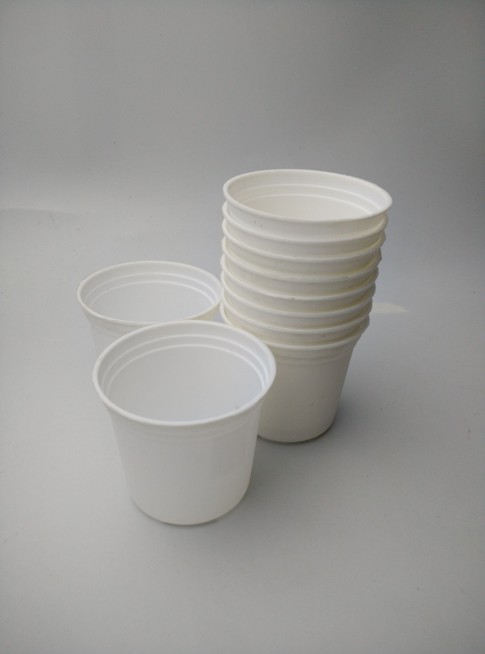Free Shipping 6 5 6cm 10pcs Mini Flower Pot Plastic White