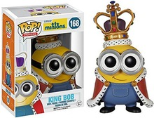 New hot sale FUNKO Pop Despicable Me Minions king Minions Boxed PVC Collection 12CM gift for children free Shipping