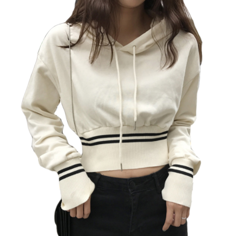 Streetwear Autumn Winter Cropped Hoodie Women Female Crop ...