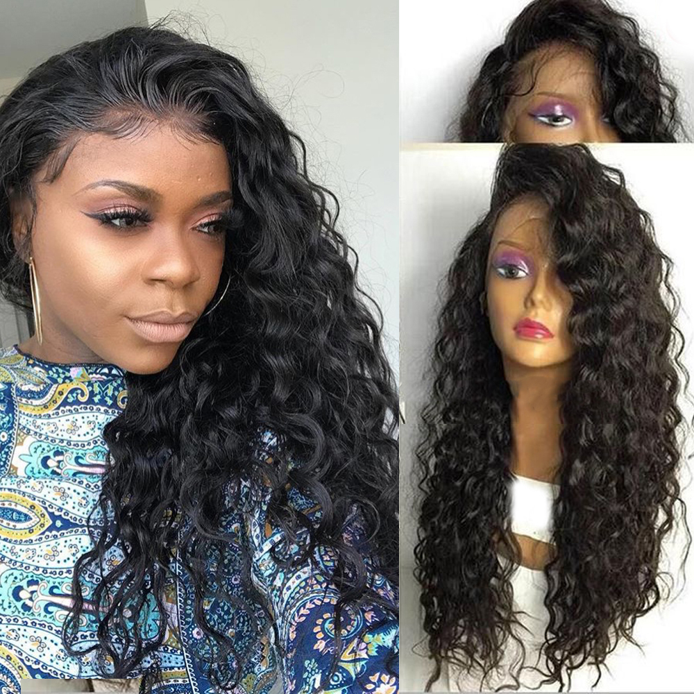 Eversilky 360 Lace Frontal Wig With Baby Hair Glueless Curly Human Hair Wigs Unprocessed Brazilian Remy Hair Wig Bleached Knots