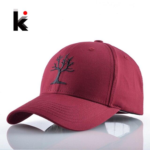 Snapback Cotton Solid Baseball Cap Tree Embroidery Dad Hat For Women Men Outdoors Casual Hockeys Gorras Drake Bones Masculino