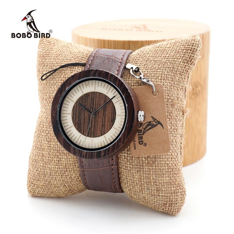 BOBO BIRD Men High Quality Quartz Wrist Men's Natural Wood Watches Simple Casual Design Watches in Gift Bamboo Box custom logo bobobird bbm027 men s red sandal wood watches men cool quartz wristwatches with leather bands in gift box design