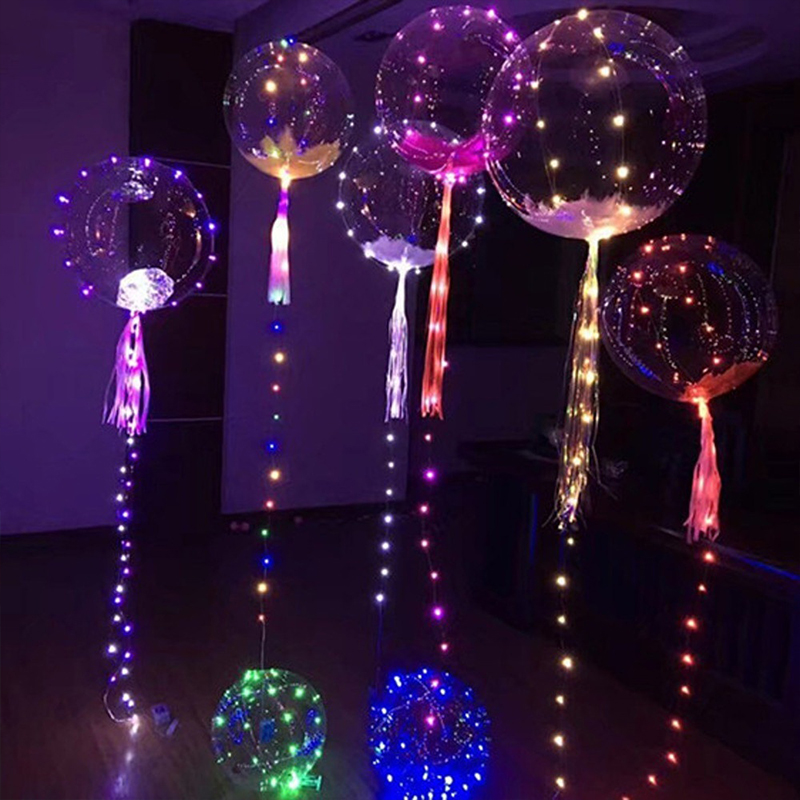 Us 33 83 10pcs Luminous Led Balloon Colorful Light For Festival Decor Party Wedding Balloons With 3m Lights String 18 Inch In Ballons