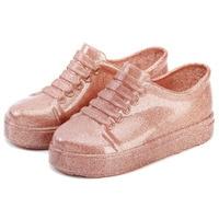 Memon duyên Cô Gái giày PVC Kẹo mùi phẳng gót Mưa boot toe vòng trẻ em giày phù hợp với cho tất cả các lý do