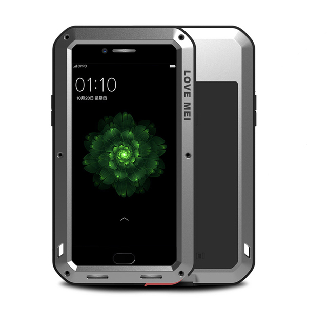 quality design 09675 ff0bb US $31.11 |LOVE MEI Shockproof Case for OPPO R9s Plus Armor Case Waterproof  Aluminum Metal Hard Cover for OPPO R9 Plus Tempered Glass-in Fitted Cases  ...