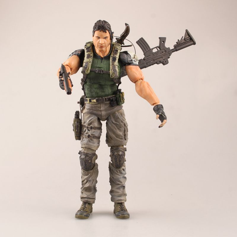 Chris Redfield Resident Evil 5 Action Figure Model Toys Biohazard 5 Cartoon Anime Model Gifts Collections   About 26cm collectible 1 6 jill valentine action figure resident evil model toys feamle full set figures in stock