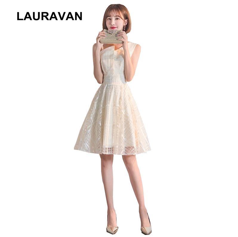 elegant modest formal short one shoulder dresses bridesmaid special occasion tule dresses 2020 weddings & events