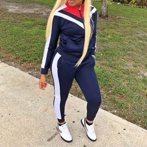 Women Sportswear Casual Long Sleeve Gym Clothing Autumn Tracksuit Women Yoga Set Fitness Clothing Zipper Sport Clothing mujer