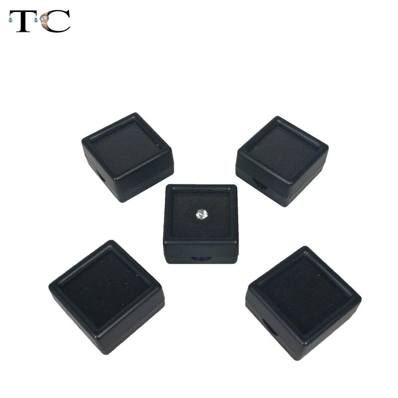 5pcs/lot Loose Diamond Display Box Plastic Diamond Case Stone Storage Box Gem Organizer Holder 3*3*2cm