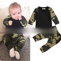 Autumn Children's Clothing New Camouflage Suit Baby Boys And Girls Children's Long-sleeve T-shirt + Casual Pants Set H00227
