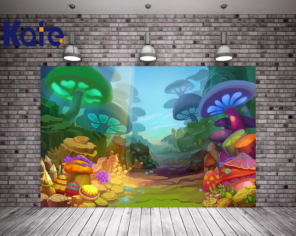 Kate Digital Cute Children Photography Backgrounds Colorful Mushroom Forest Photo Backdrop For Newborn Studio Background 5ft 7ft custom made backgrounds for photo studio photography background newborn and children free shipping