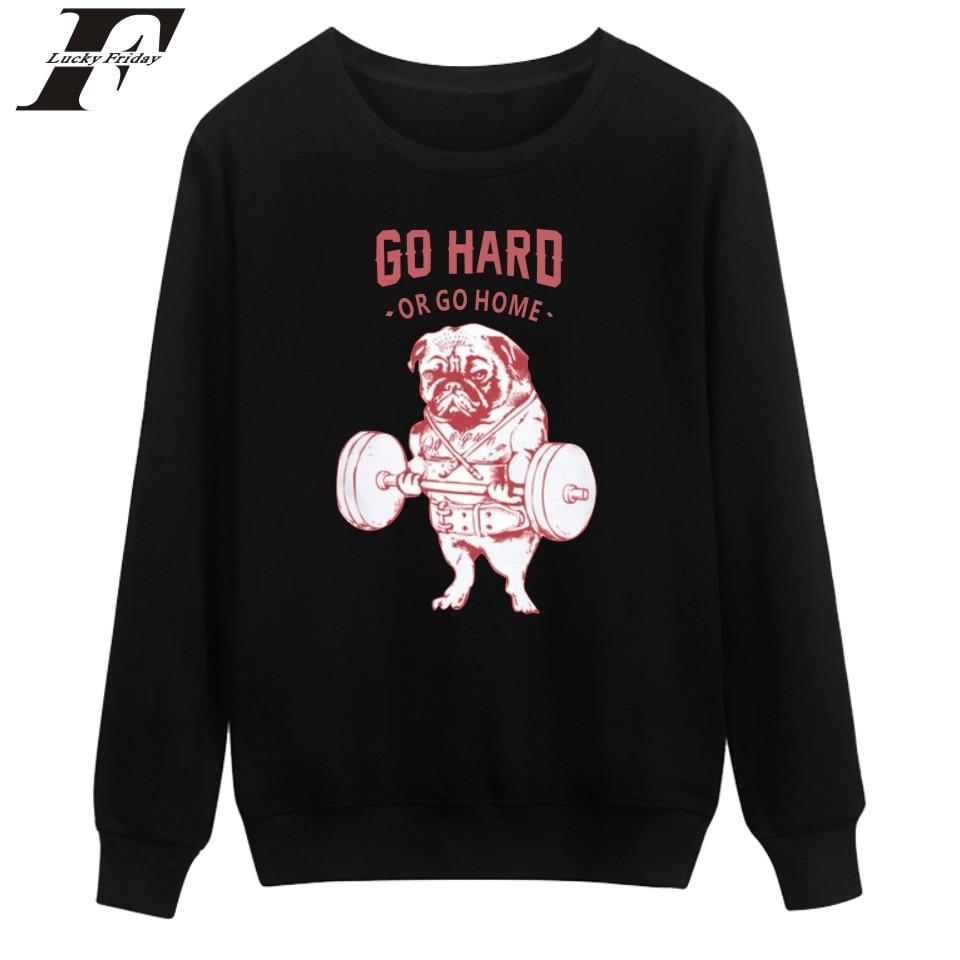 LUCKYFRIDAYF Hard Dog Sweatshirt Men Hip Hop Autumn Long Sleeve Fashion Harajuku Sweatshirt Oversize Black Print Pullovers 4XL
