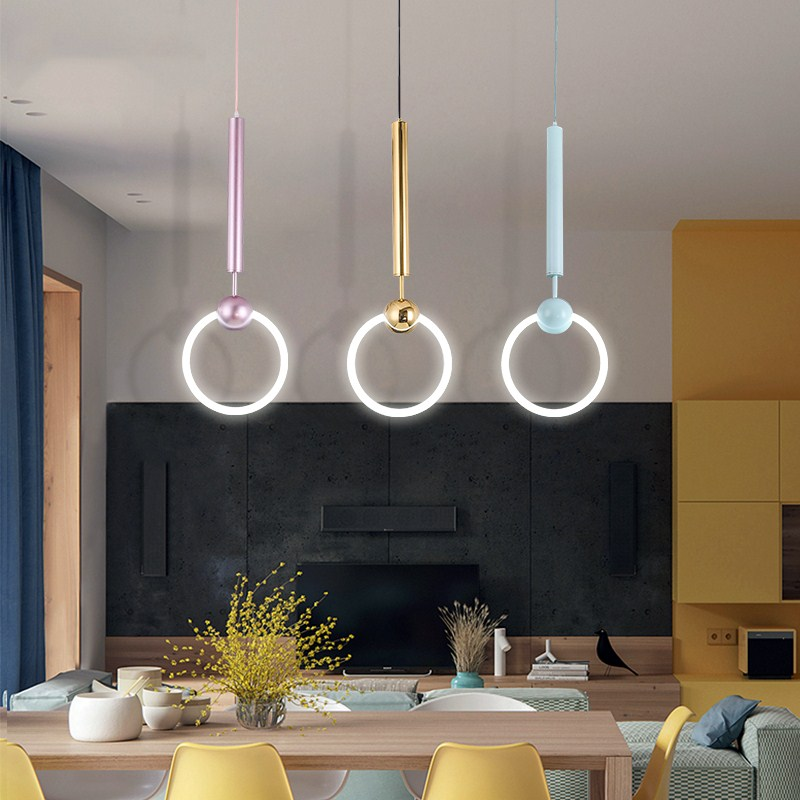 Modern Pendant Lights Round Circle Hanglamps Luminaire Living Room Bar Kitchen Fixtures LED Pendant lamps Lighting vintage pendant lights kitchen dining room fixtures luminaire modern restaurant pendant lamps coffee bedroom lighting