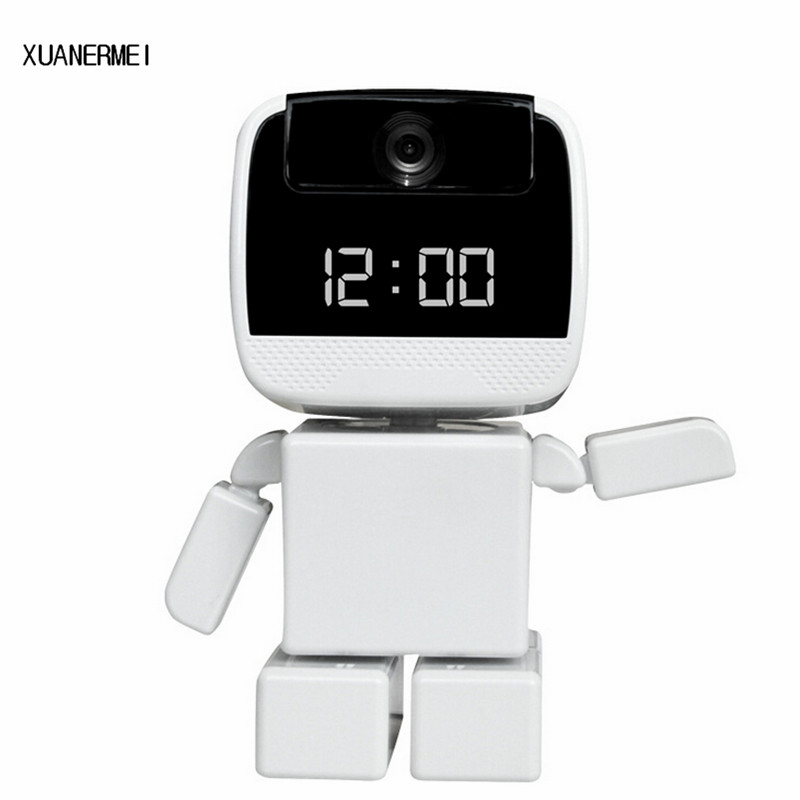 XUANERMEI 960P IP Camera Wi-Fi Baby monitor Home Security Robot Cam with LED Display Clock Remote Control Night Vision Pan keyshare dual bulb night vision led light kit for remote control drones