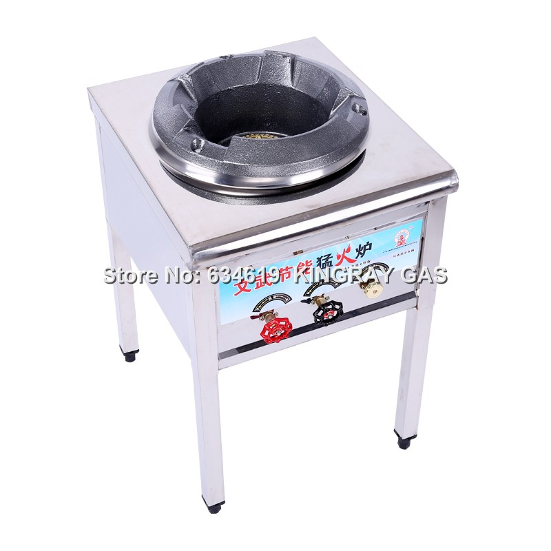 Commercial High Pressure Liquefied Gas Fire Stove Cast Iron Gas Cooking Burner Energy Saving Single Restaurant