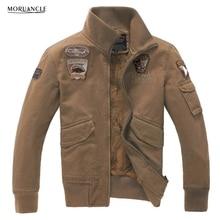 MORUANCLE Winter Mens Warm Bomber Jackets Male Slim Fit Fleece Lined Pilot Coats With Epaulets Plus Size M-4XL Casaco Masculino