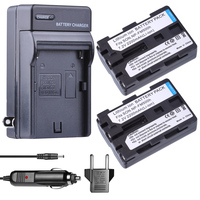 2x Replacement battery NP FM500H + NP FM500H NP FM500h bateria charger for Sony A200 A200K A200W A300 A350 A450 camera battery