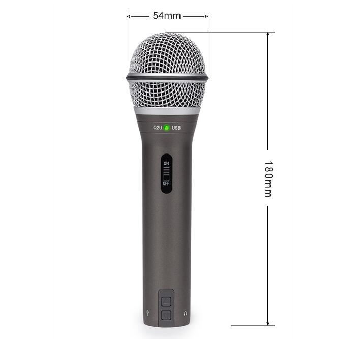 100 Original Samson Q2u Handheld Dynamic Usb Microphone with XLR Headphones port mic for podcasting radio and YouTube videos in Microphones from Consumer Electronics