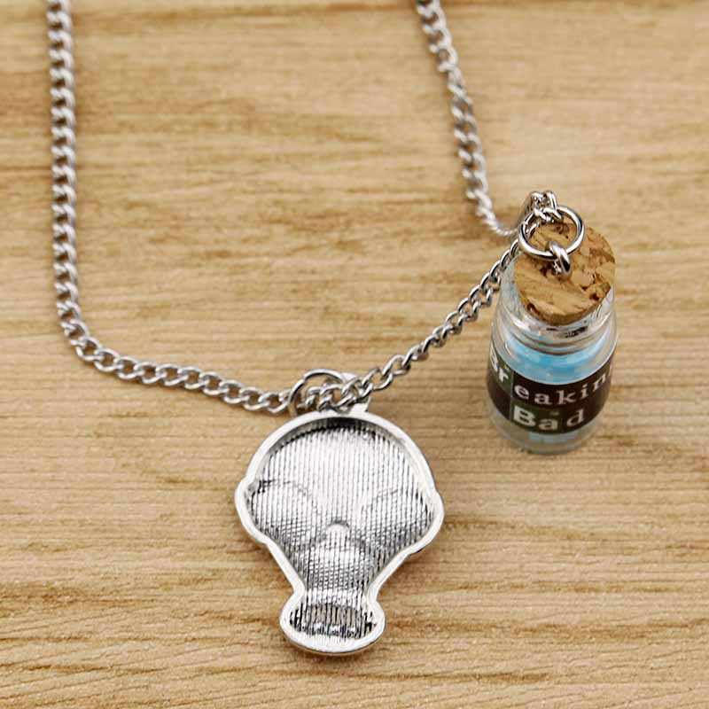 Blue Meth Heisenberg Jesse Pinkman Walter White Jewelry Breaking Bad  Inspired Bath Salt Vial Cork Bottle Necklaces & Pendants