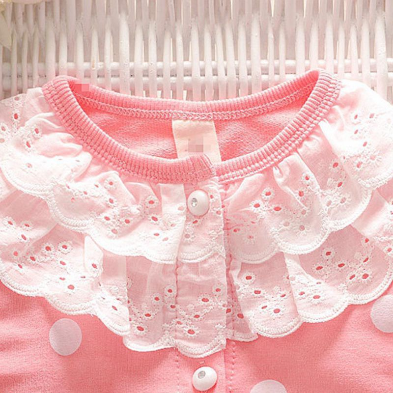 Toddler Baby Girls Coats Double Lace Pocket Single Row Button Long Sleeves Warm Spring And Autumn Baby Girls Jacket in Jackets Coats from Mother Kids