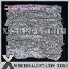 Dark Colors Theme 3mm Metal Rhinestone Fabric Mesh Without Iron On Glue Silver Base