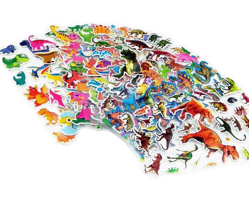 50 hojas de dibujos animados coches aviones animales princesa DIY pegatinas juguetes PVC álbum de recortes para niños diario decoración regalos GYH