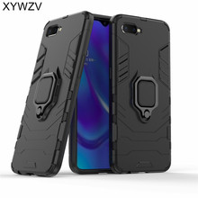 Armor Case OPPO RX17 Neo Silicone Cover Magnetic Metal Finger Ring Holder Case For OPPO RX17 Neo Hard Phone Case OPPO K1 Fundas цена и фото