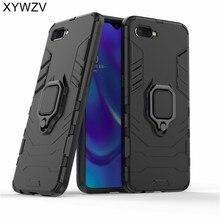 鎧ケース OPPO RX17 ネオシリコーンカバー磁性金属指リングホルダー Oppo RX17 Neo ハード電話ケース OPPO K1 Fundas