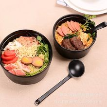 Creative Lunch Box Ramen Bowl Frutero Dinnerware Salad Rice Soup Bowl Instant Noodle Bowl Tableware classical cherry blossom ceramic bowl set with bamboo chopstick fruit salad rice soup ramen bowl water tea cup kitchen tableware