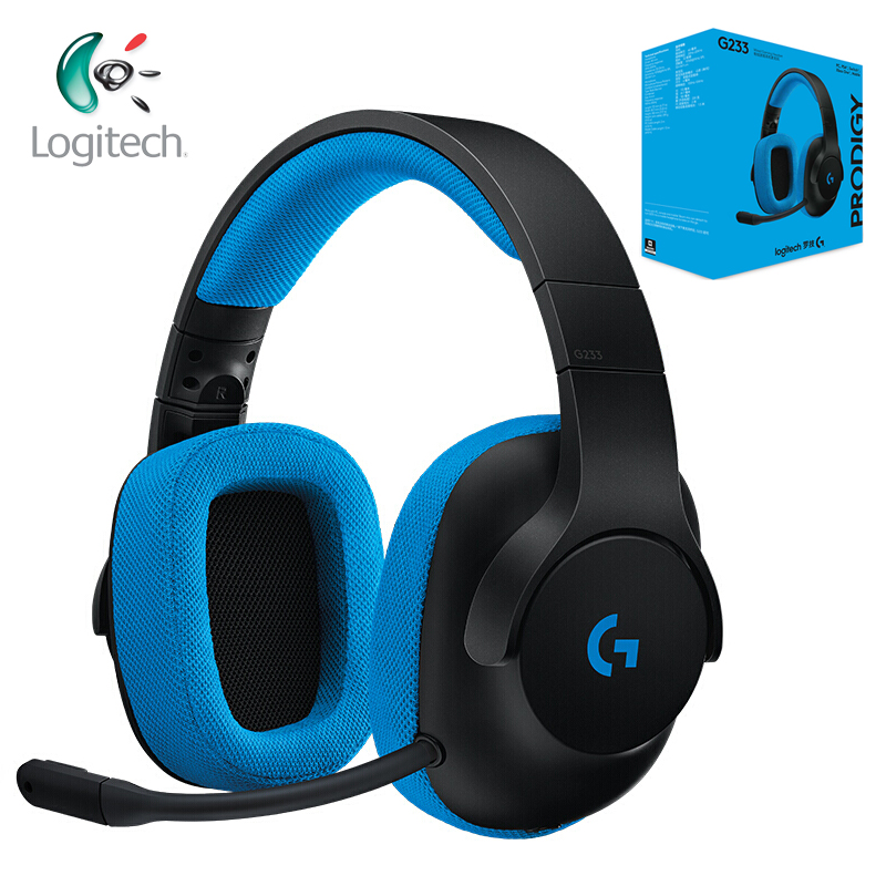Logitech G233 Gaming Headset Wired Control Headphone Work with PC PS4 Xbox One Smartphones and Tablets