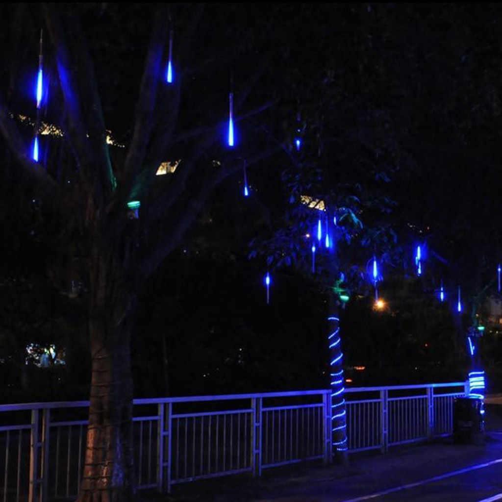 Светодиодный светильник на солнечной энергии, дерево, садовый уличный Солнечный метеоритный душ, светильник, светодиодный светильник для праздника, наружный декоративный светильник, MAY23