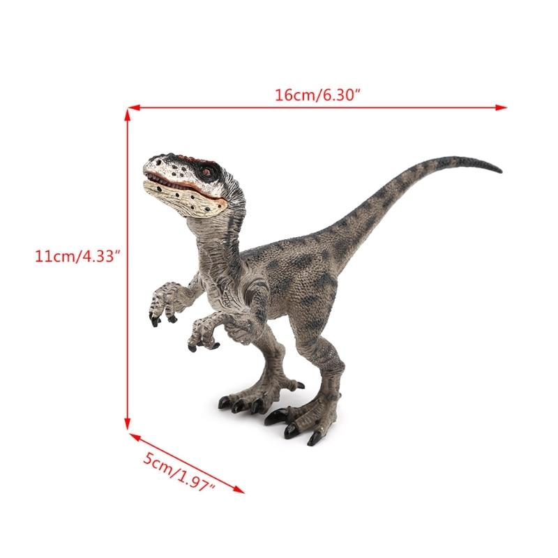 Raptor Dinosaur Action Figure Toys Hand Puppet Kids Educational Model