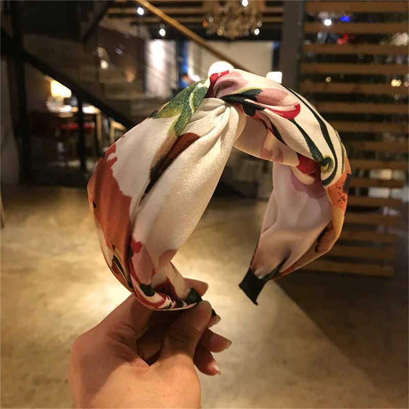 JAYCOSIN 2019 Women's Headband Fashion Polyester Flower Cross Tie Hair Band Hoop Women's Casual Hair Band For Lady Dropship Ap26