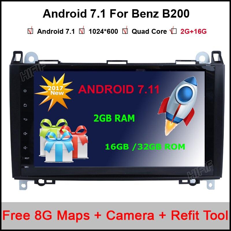 9 1024X600 Android 7.11 qUAD Core Car Radio Head Unit For Mercedes Benz B200 W169 A160 Viano Vito 3G WIFI GPS Navigation Radio
