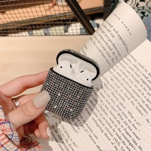 Funda protectora rígida de lujo para auriculares con diamante para Apple Airpoads 1ª, 2 °, caja de carga para auriculares inalámbricos con Bluetooth