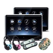2 шт. мониторы 11.6 дюймов HD цифровой TFT IPS Touch 1080 P видео подголовник автомобиля dvd-плеер мониторы HDMI Порты и разъёмы FM USB игры + 2 Наушники