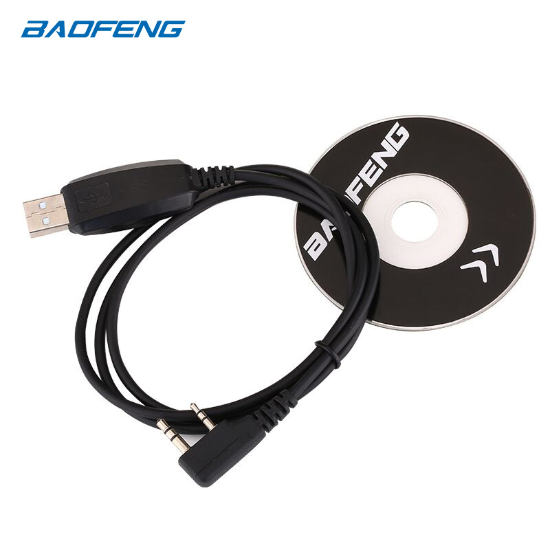 Baofeng USB Programming Cable Driver CD For UV-5RE UV-5R Pofung UV 5R Uv5r 888S UV-82 UV-9R Two Way Radio Walkie Talkie Program