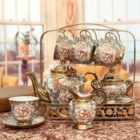 Европейский керамические бытовые Кофе чайный сервиз чайник воды свадебные подарочные коробки