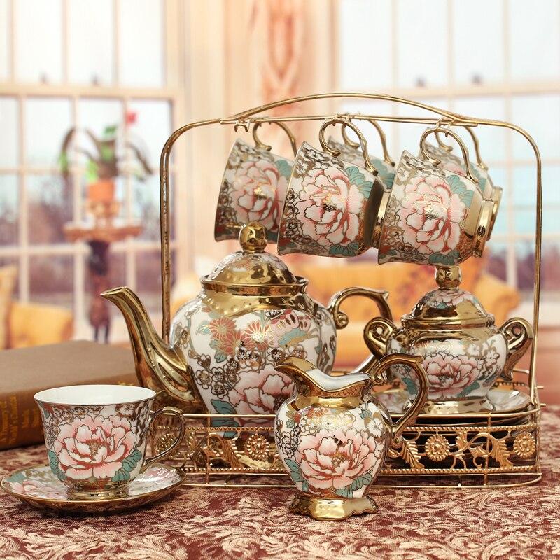 Boîtes de cadeau de mariage de bouilloire d'eau de thé de café de ménage en céramique européenne