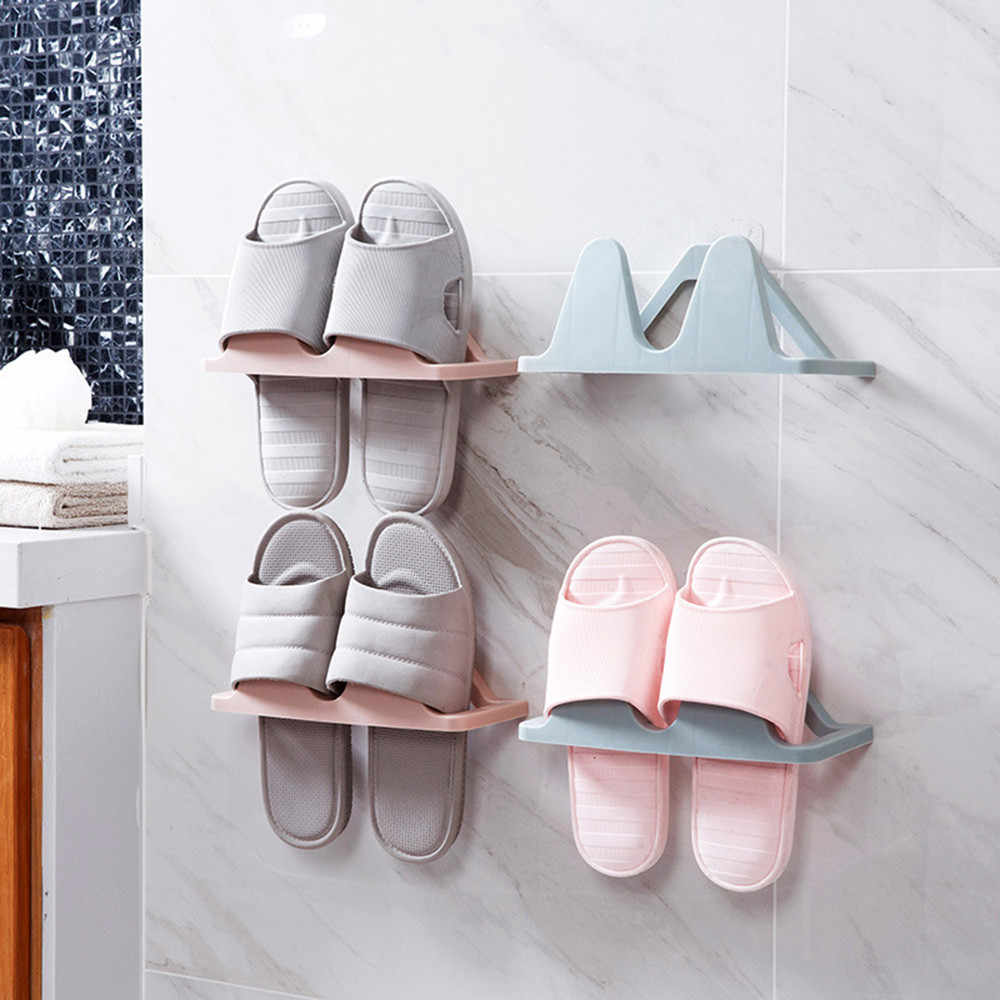 Wall Hanging Shoe Rack Shoes Storage Artifact Household Space Saving Holder Kitchen Organizer Home Decor Accessories