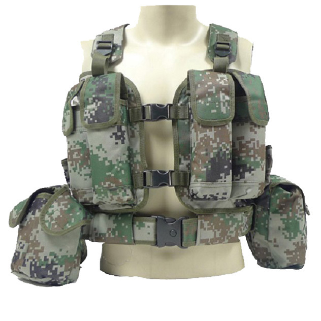 outdoor sports Men Chest Harness Army Tactical Military Equipment Airsoft Vest Tactical Accessories Combat Molle System CS Vest