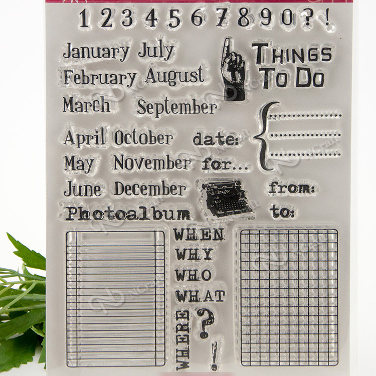 calendar Transparent Clear Silicone Stamp/Seal for DIY scrapbooking/photo album Decorative clear stamp sheets wish list transparent clear silicone stamp seal for diy scrapbooking photo album decorative clear stamp sheets
