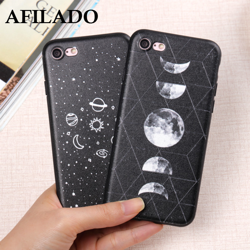 Fashion Space Eclipse of the Moon Soft Slim Coque Cover for Apple IPhone 6s 6 plus Phone Case Silicone Ultra Thin Shell Capa