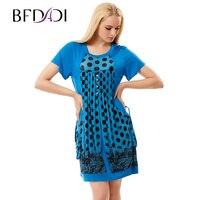 BFDADI Brand Dress Summer Women High Quality Draped Patchwork Pockets Mini Dress Casual Short Sleeve Slim