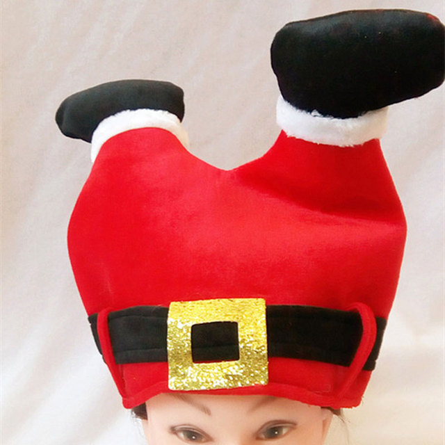 98bf54cfb5e4f Red Creative Trousers Christmas Decorations Hats Christmas Ornaments Adult  Ordinary Santa hats Children cap For Party Gifts