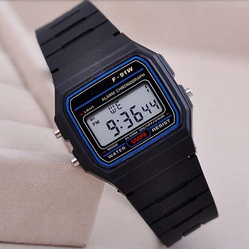 2019 New Stylish Boys Girls LED Digital Watches Silicone Strap Electronic  Pink Clock Hot Reloj Dropshipping