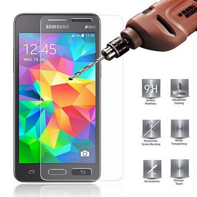 Şeffaf Temperli Cam Samsung Galaxy J5 A5 2016 A3 A7 2015 J3 J7 J1 2014 S6 S5 S4 S3 Grand Başbakan Ekran Koruyucu